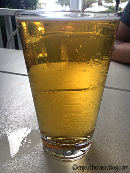 Grayton Beer Company's 30A Beach Blonde Ale in a pint glass