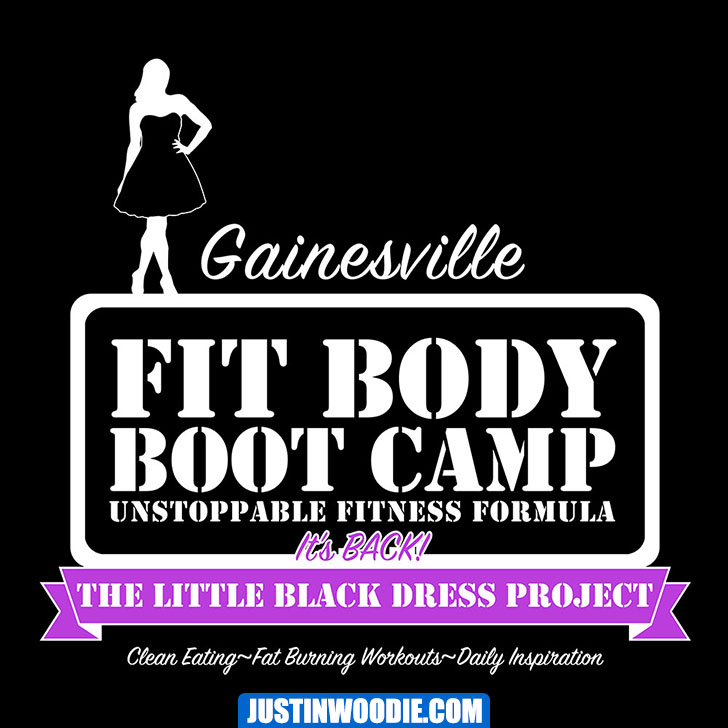 Gainesville Fit Body Boot Camp Little Black Dress Challenge 2016 Graphic Design