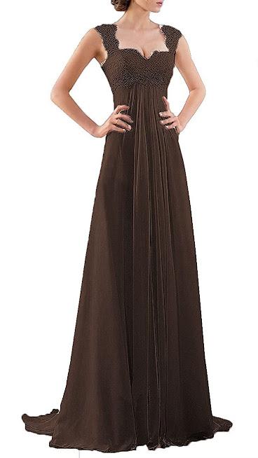 Glamorous Brown Chiffon Bridesmaid Dresses