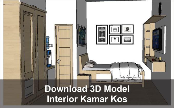 download 3d interior kamar kos
