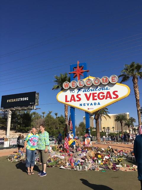 Las Vegas Sign memorial #VegasStrong
