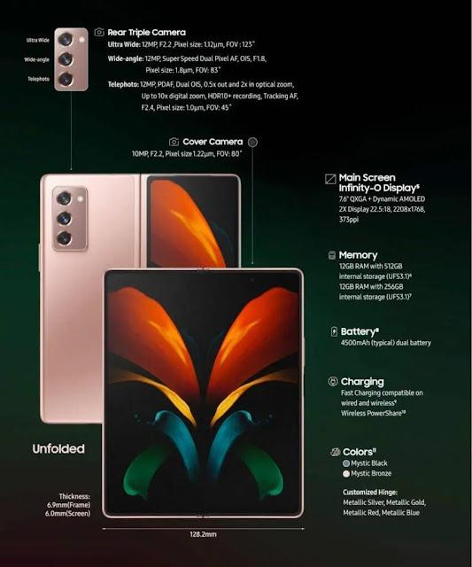 سعر ومواصفات هاتف جالكسي Galaxy Z Fold2