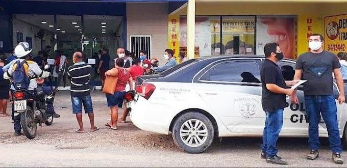 Em Chapadinha, Procon autua lotérica por suspeita de cobrança de taxa para o saque do auxílio emergencial.