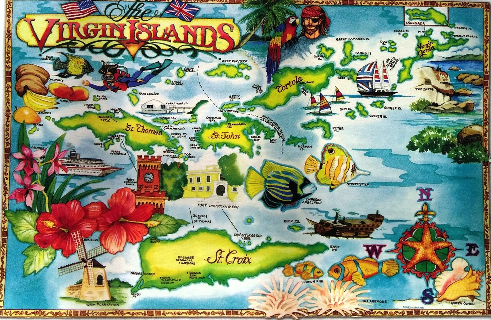 the islands make up part of the virgin islands archipelago the remaining islands constitute the u s virgin islands and the spanish virgin islands