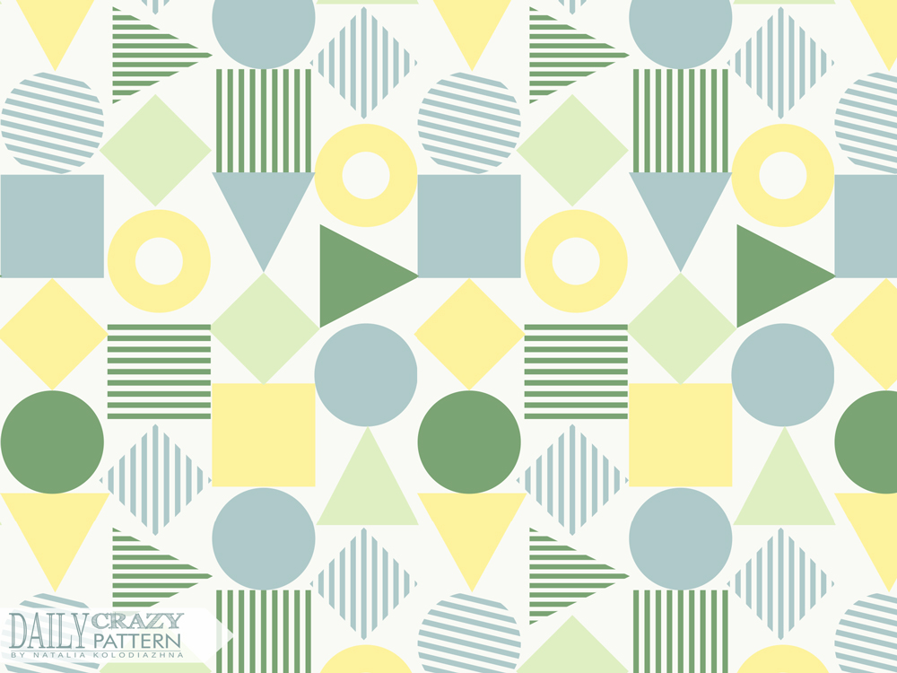 "Pattern with simple geometric shapes for ""Daily Crazy Pattern"""