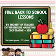 Free Back to School Lessons By The Best of Teacher Entrepreneurs Marketing Cooperative - 2018