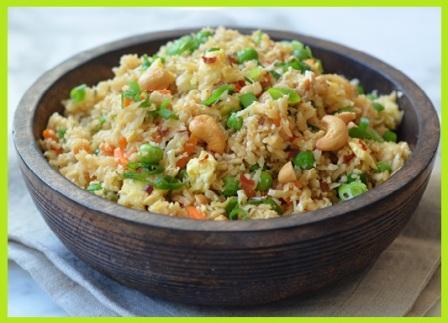 Zero Oil Fried Rice