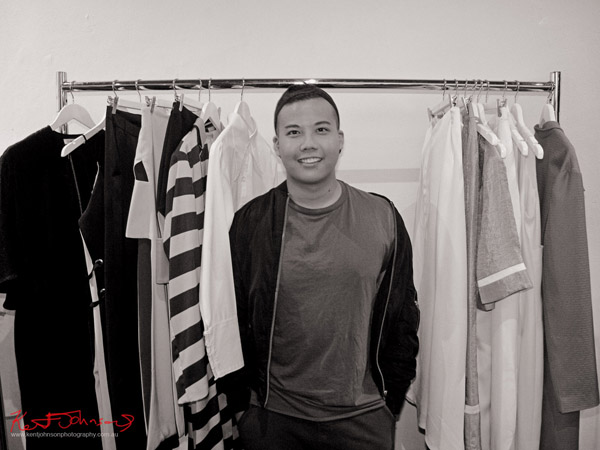 Portrait of Chad Nguyen 'C H A D D I E', Raffles Fashion Designers at The Design Residency.  Photography by Kent Johnson.