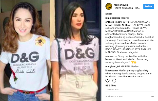 Did Marian Rivera Wear A Fake Version of Heart Evangelista's Dolce & Gabbana Shirt?