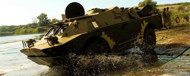 93-я бригада показала як плавають БРДМ