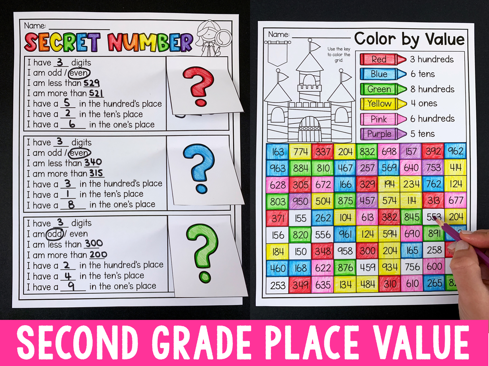 Second Grade Numbers And Place Value