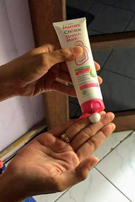 review-tekstur-Mama's-Choice-Stretch-Mark-Cream-yang lembut