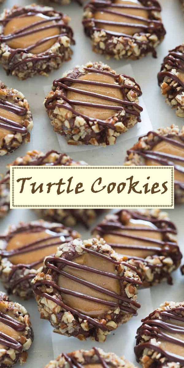 Turtle Cookies #cookiesrecipes