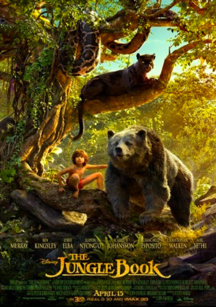 Poster of The Jungle Book 2016 BRRip 720p Dual Audio Hindi Dubbed 1Gb