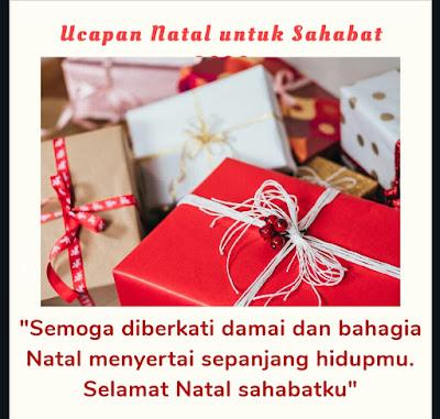 ucapan natal untuk sahabat