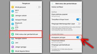 Cara Menampilkan Kecepatan Internet di Status Bar HP Vivo