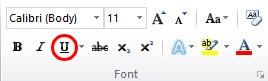 Cara Menggarisbawahi Teks di Microsoft Word