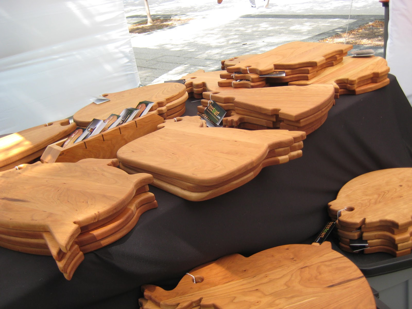 Ballston Arts Market: Photos from Saturday - Cool Cutting Board Designs's Market