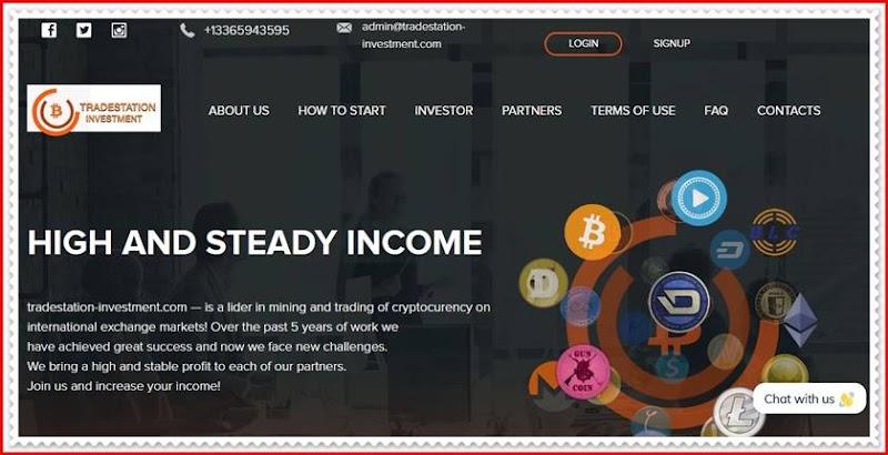 Мошеннический сайт tradestation-investment.com – Отзывы, развод, платит или лохотрон? Мошенники
