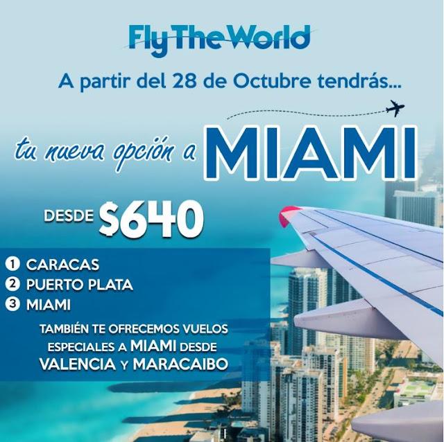 Con la aerolinea Fly The World