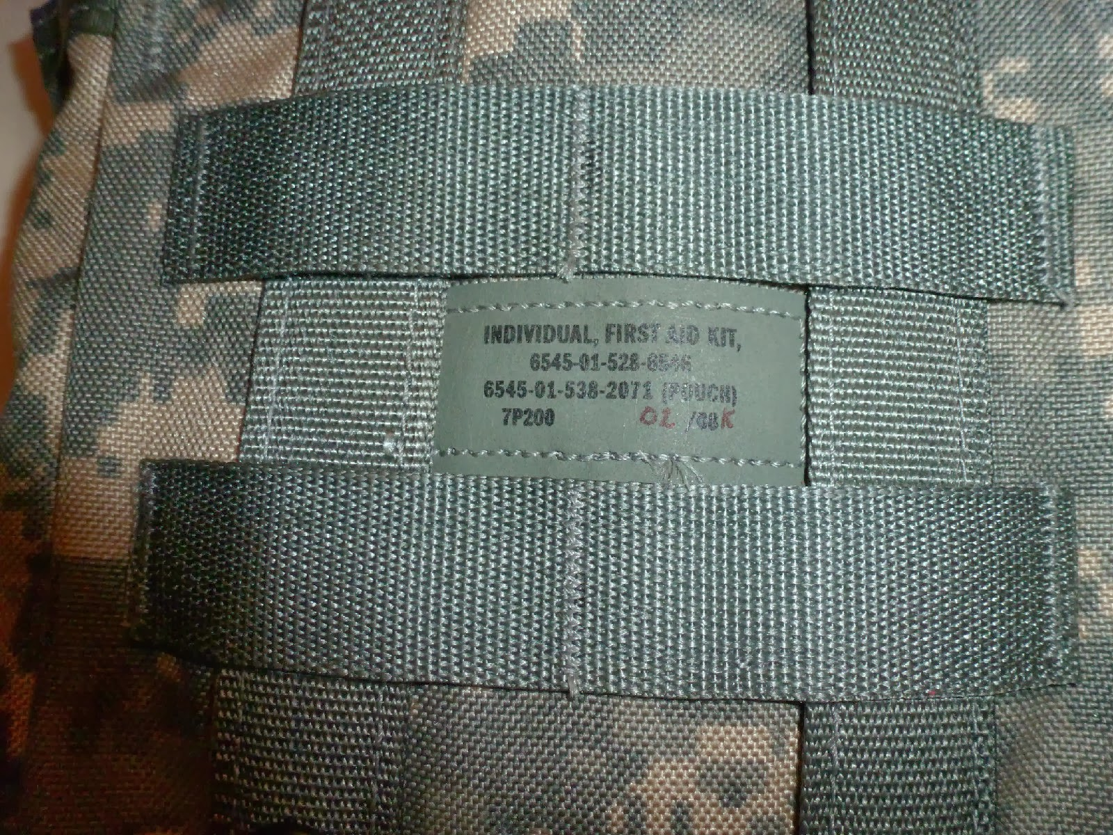 Webbingbabel: U S  Air Force Individual First-Aid Kit (IFAK)