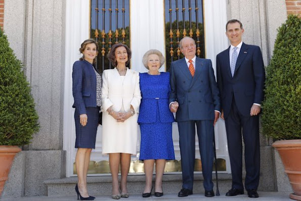 After the inauguration, they had lunch at Zarzuela Palace with King Juan Carlos and Queen Sofia of Spain.