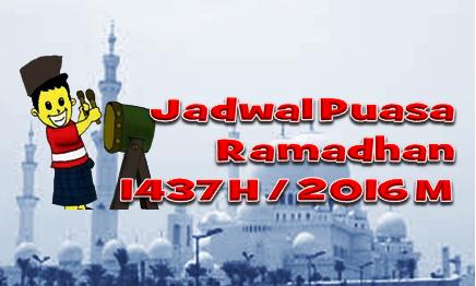 Jadwal Puasa Ramadhan 1437 H / 2016 M Sulawesi Tenggara dan kota-kota lain diIndonesia.