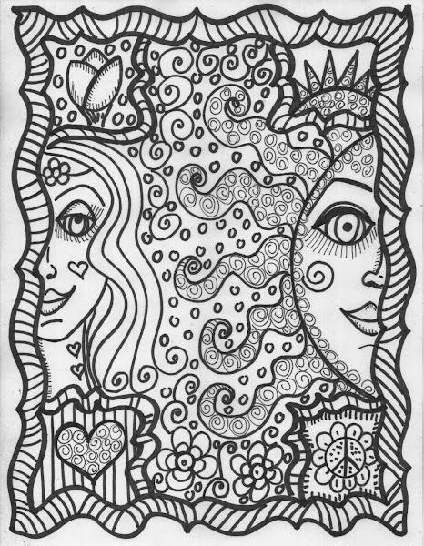 Hippie Sun Coloring Pages – Colorings.net