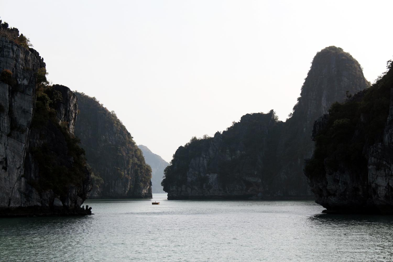 Paisajes de la bahía de Halong