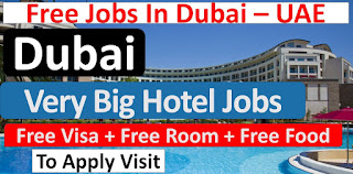 Hotel Staff - Waiter/ Waitress/ Kitchen Helper/ Room Attendant/ Bellboy/ Reservation/ Cashier And Cleaner Jobs in Dubai