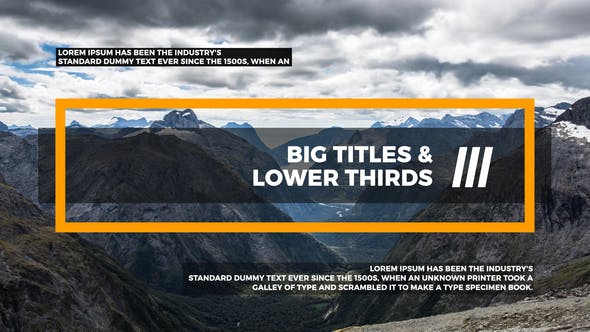 Big Titles & Lower Thirds III[Videohive][After Effects][22107887]