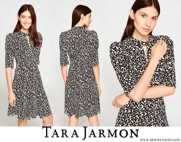 Princess Marie wore TARA JARMON clover-print dress