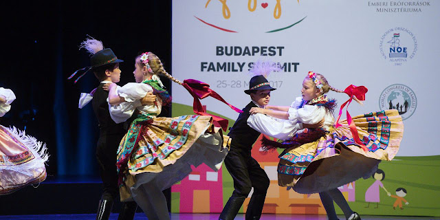 Youth and traditional dancing at the Budapest Family Summit