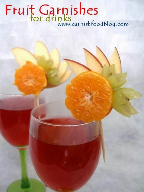 cocktail fruit decoration