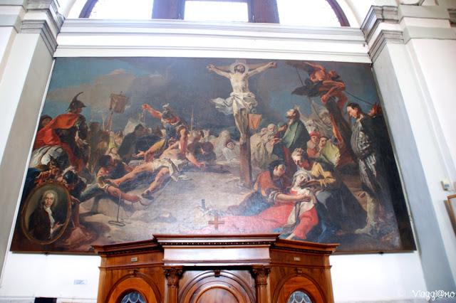 La crocifissione del Tiepolo nella chiesa di Burano
