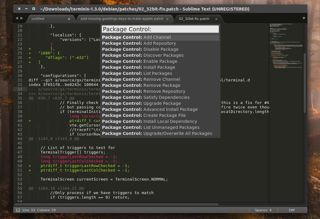 Multiload-ng 1 4 0, GNOME Twitch 0 3 0, Sublime Text 3 Build