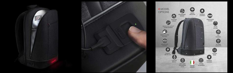 حقيبة ظهر مع ميزة البصمة لحمايتك من السرقة