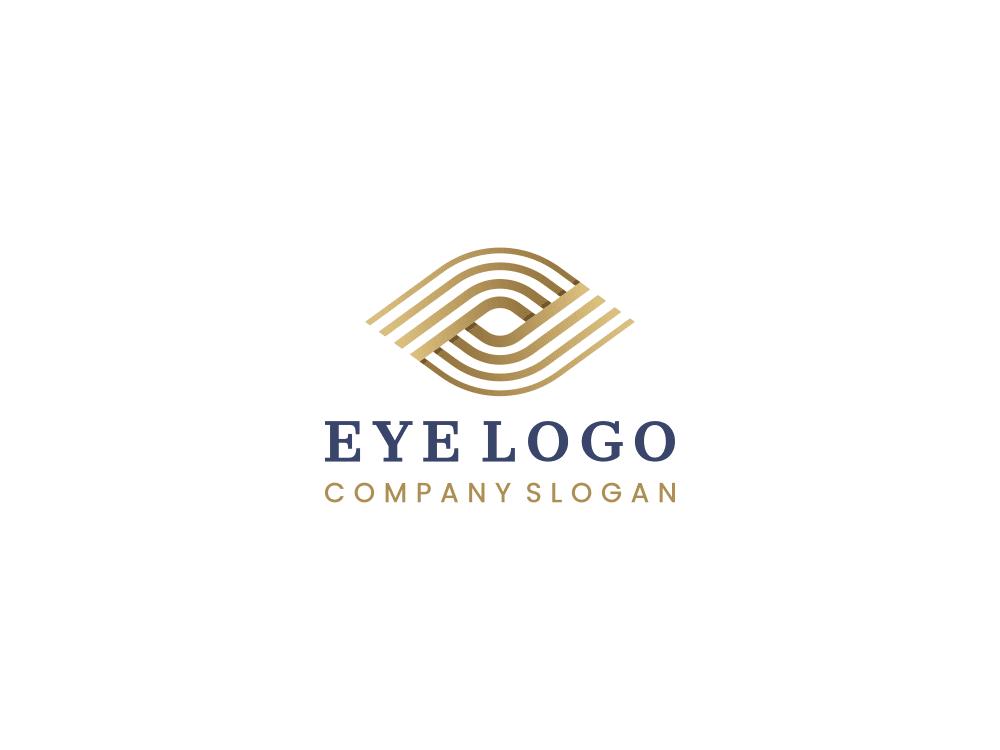 Free eye logo on white background