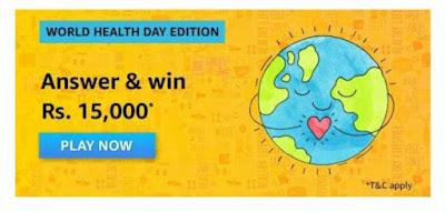 Amazon World Health Day Quiz Answers