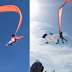 3-year-old girl swept high into the air while holding at kite's tail during Taiwan's festival