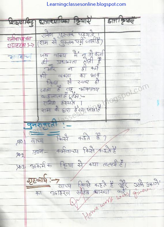 free download pdf of sanskrit lesson plan for class 6 on vachya
