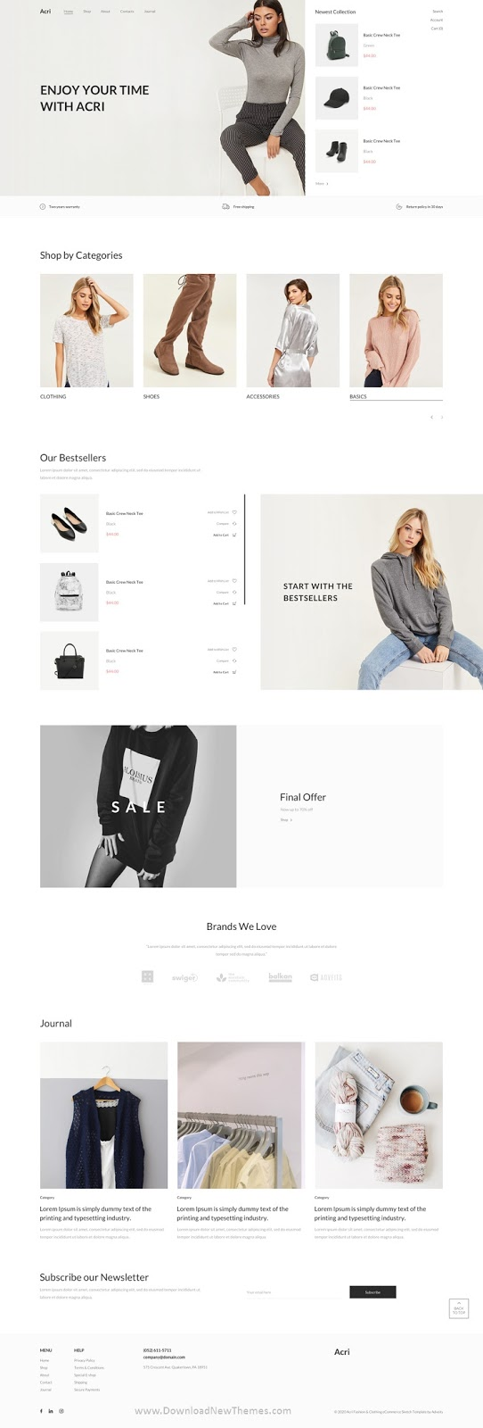 Fashion & Clothing eCommerce Template