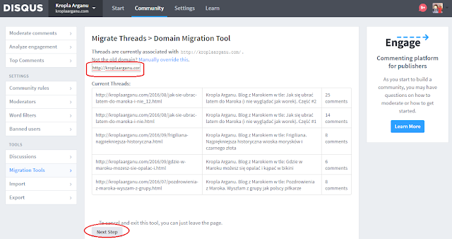 Disqus Domain Migration Tool