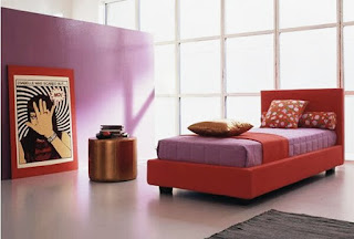 The Idea Of A Bedroom With A Beautiful Purple Color