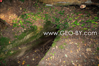 Wojciechowo (Novospask). Seventh located German bunker from the First World War. Ruins