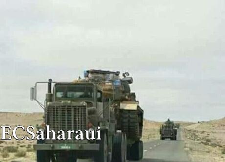 El ejército marroquí envía decenas de tanques y blindados al sur del Sáhara Occidental