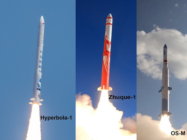 Chinese quick-reaction orbital launch vehicles  صاروخ OS-M و Zhuque-1  Hyperbola-1 .. MISSILE
