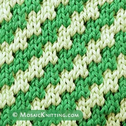 Free Mosaic Pattern For Beginners. Zig Zag Diagonal (Slip stitch Pattern 2)