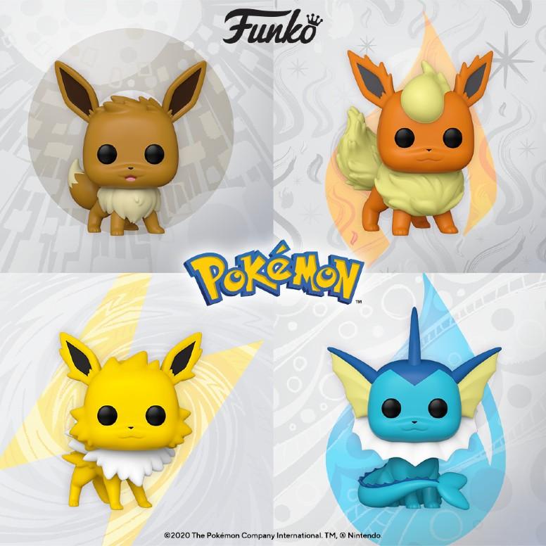Funko Pokémon Eevee Flareon Jolteon Vaporeon