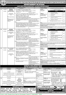 PPSC Jobs 2020 - Latest PPSC Jobs September 2020 Advertisement Apply Online Ad 26/2020